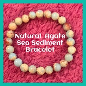 Agate Sea Sediment Stone Bracelet